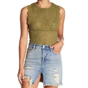 FREE PEOPLE SURE THANG Lace Top